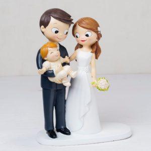 cake topper con neonato