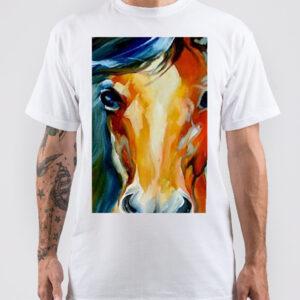 maglietta cavallo