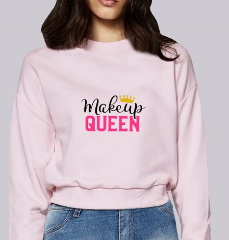 felpa rosa makeup queen